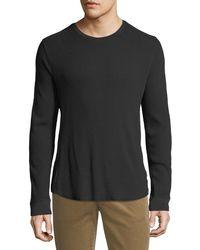 Vince - Men's Waffle-knit Crewneck Shirt - Lyst
