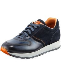 Neiman Marcus - Men's Leather & Suede Sneakers - Lyst