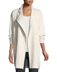 Eileen Fisher - Double-knit Jacquard Kimono Jacket - Lyst