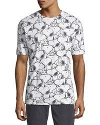ELEVEN PARIS - Men's Seanum Peanuts Snoopy Graphic T-shirt - Lyst