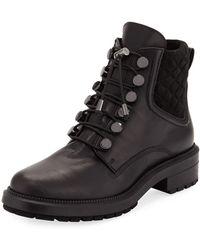 Aquatalia - Linda Leather Combat Boots - Lyst