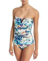 Shan - Lily-rose Bandeau Notched One-piece Swimsuit - Lyst