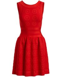 Alaïa - Sleeveless Fit-and-flare Circle Jacquard Dress - Lyst