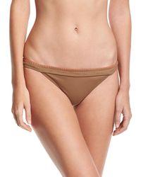 Letarte - Whipstitch Solid Swim Bikini Bottom - Lyst