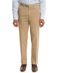 Brioni - Washed Flat-front Trousers - Lyst