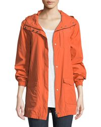 Eileen Fisher - Washed Organic Cotton-blend Hooded Anorak Jacket - Lyst