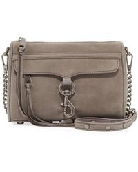 Rebecca Minkoff - Mini Mac Nubuck Crossbody Bag - Lyst
