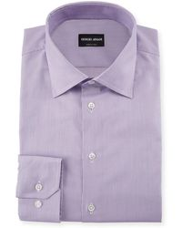 Giorgio Armani - Micro-structure Dress Shirt - Lyst