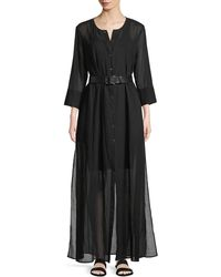 Theory - Weekend Button-down Summer Cotton Maxi Dress - Lyst
