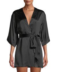 Kiki de Montparnasse - Silk Short Robe - Lyst