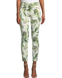 7 For All Mankind - Ankle Skinny Palm Fronds Jeans - Lyst