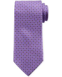 Canali - Men's Connected Circles Silk Tie - Lyst