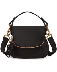 Lyst - Tom Ford Jennifer Side-Zip Leather Hobo Bag in Natural 97dcca7707728