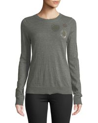 Zadig & Voltaire - Embellished Cashmere Pullover Sweater - Lyst