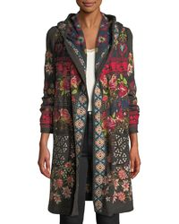 Johnny Was - Breiliha Hooded Embroidered Duster Jacket - Lyst