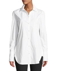 Theory - Classic Button-down Long-sleeve Stretch-cotton Tuxedo Shirt - Lyst