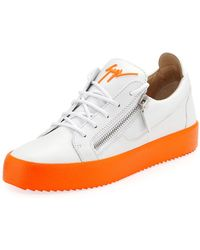 6fd196f0d9a Giuseppe Zanotti - Men s Neon-sole Double-zip Low-top Sneakers - Lyst