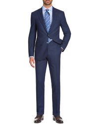 Isaia - Men's Wool-stretch Tonal Check Two-piece Suit - Lyst