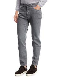Ermenegildo Zegna - Straight-leg Stretch-denim Jeans - Lyst