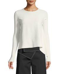 Derek Lam - Long-sleeve Crewneck Pullover Sweater - Lyst