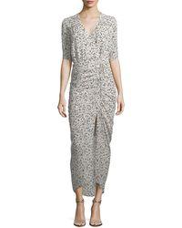 Veronica Beard - Mariposa Wrap Silk Midi Dress - Lyst
