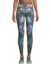 Nike - Power Printed Mid-rise Training Tights - Lyst