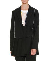 Jil Sander - Pleated Notched-collar Side-tie Wool-mohair Coat - Lyst
