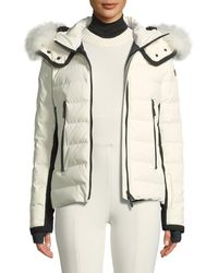 Moncler Grenoble - Lamoura Hooded Puffer Jacket W/ Removable Fur Trim - Lyst