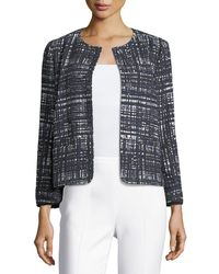 ESCADA - Weave-print Collarless Jacket - Lyst