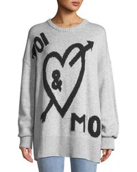 Cinq À Sept - Tara You & Me Graphic Wool-blend Pullover Sweater - Lyst