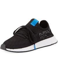 943b2b20d3bc7 Lyst - adidas Men s Deerupt Runner Net Lace Up Sneakers in Black for Men