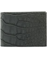 Neiman Marcus - Alligator Bi-fold Wallet - Lyst