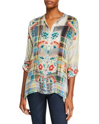 328825dbaa6b9 Lyst - Johnny Was Plus Size Canvasita Floral-print Long-sleeve Easy ...