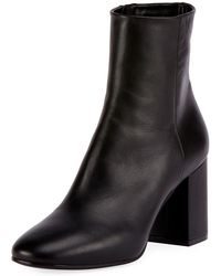 Balenciaga - Leather Block-heel Ankle Boot - Lyst
