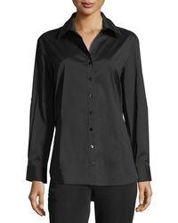 Misook - Long-sleeve Button-front Shirt - Lyst