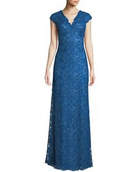 Tadashi Shoji - Scalloped Lace Evening Dress - Lyst