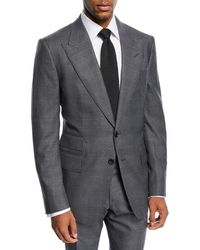 Tom Ford - Shelton Tonal Prince Of Wales Plaid Wool Suit - Lyst