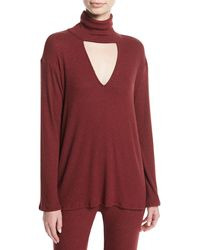 Rachel Pally - Marla Ribbed Cutout Turtleneck Sweater - Lyst