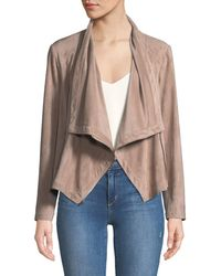 Cupcakes And Cashmere - Holt Lace-up Cowl-neck Moto Jacket - Lyst
