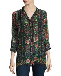 Johnny Was - Emby Button-front Floral-print Blouse - Lyst
