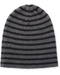 Vince - Striped Wool Beanie Hat - Lyst