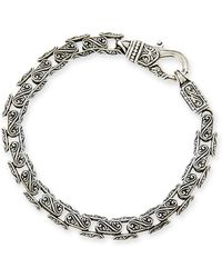 Konstantino - Men's Scroll Oval Link Bracelet - Lyst