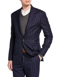 Brunello Cucinelli - Men's Wide Pinstriped Two-piece Suit - Lyst