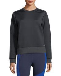Under Armour - Luster Crewneck Long-sleeve Sweatshirt - Lyst