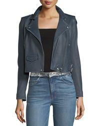 IRO - Ashville Leather Moto Jacket - Lyst