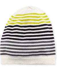 Eileen Fisher - Merino Striped Beanie Hat - Lyst