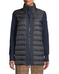 Moncler - Maglione Quilted Long Tricot Cardigan Jacket - Lyst