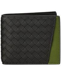 Bottega Veneta - Men's Woven Bi-fold Wallet With External Pocket - Lyst