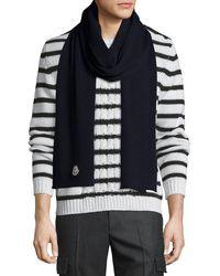 Moncler | Men's Virgin Wool Scarf | Lyst