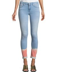 7 For All Mankind - The Skinny Crop Jeans W/ Tie-dye - Lyst